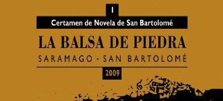 CARTEL CERTAMEN DE NOVELA DE SAN BARTOLOMÉ, LA BALSA DE PIEDRA
