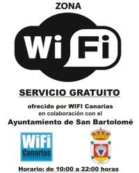 SERVICIO GRATUITO DE WIFI EN VARIOS PUNTOS DEL MUNICIPIO DE SAN BARTOLOMÉ